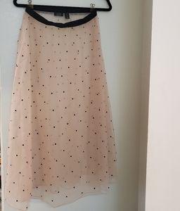 Halogen long sheer skirt